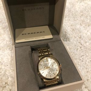Burberry Gold Watch (see photo for size)